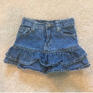 The children's place jean skirt in size 3T